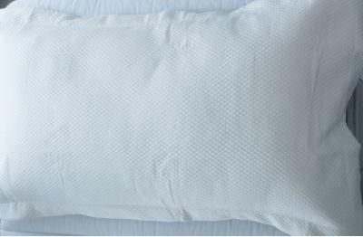 Waffle white pillow sham